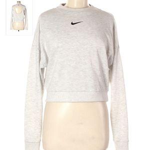 Nike grey creneck with cutout